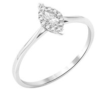Damen-Ring Solitaire Gold 9 Karat) Diamant 0,2 Karat-MY043R6 T56