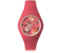 - ICE flower Delicious - Rosa Damenuhr mit Silikonarmband - 001306 (Medium)