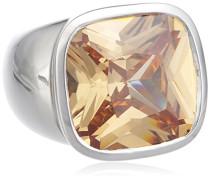 Damen-Ring 925 Sterling Silber Zirkonia beige