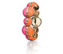 Costume Damen-orange und rosa groß Stretch Armband von 20cm