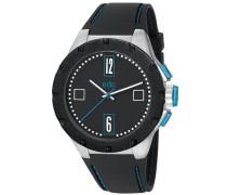 Edc Herren-Armbanduhr XL Jagged Boss - Cool Turquoise Analog Quarz Kautschuk EE100771001