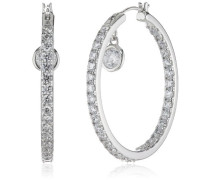 Diamonfire Damen-Creolen 925 Sterling Silber Zirkonia Classic Linie weiß 62/1413/1/082