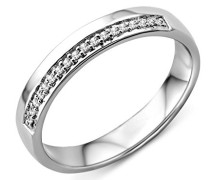 Damen-Ring 9 Karat (375) Weißgold Diamant 57 (18.1) SA958RP