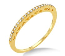 Miore Damen-Ring Memoire  375 Gelbgold mit Brillanten 0,11ct MP9021RO