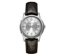 Hamilton Herren-Armbanduhr XL Analog Quarz Leder H32411555
