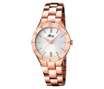 Damen-Armbanduhr XS Analog Quarz Edelstahl beschichtet 15898/1