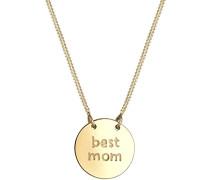 Halskette Wording Muttertag Best Mom 925 Silber vergoldet 0101140317