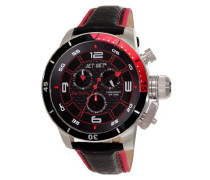 Jet Set Herren-Armbanduhr San Remo Chronograph Quarz Leder J91101-238
