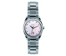 Damen-Armbanduhr Ambassador Analog Edelstahl Silber 12828/B58