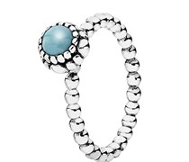 Pandora Damen-Ring 925 Sterling Silber Tuerkis grün Gr.58 (18.5) 190854TQ-58