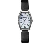 Quartz Damen-Armbanduhr Analog Quarz Leder INQ024WHBK