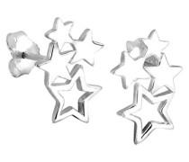 Elli Damen-Ohrstecker Sterne 925 Sterling Silber 0310391011