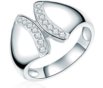 Damen-Ring Classic Collection 925 Sterling Silber Zirkonia weiß