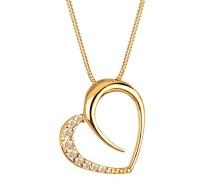 Damen Halskette 925 Sterling Silber mit Swarovski Kristallen 45 cm gold 0111812213_45