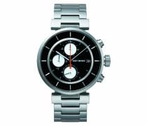 Unisex-Armbanduhr W Chronograph edelstahl schwarz SILAY001