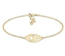 Damen-Armband Wordings Love-Schriftzug 925 Silber teilvergoldet 16 cm - 0201112517_16