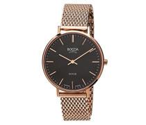 Damen-Armbanduhr Analog Quarz Edelstahl beschichtet 3590-10