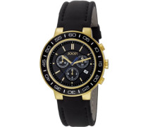 Herren-Armbanduhr XL Insight Chronograph Quarz Leder JP100911F05