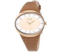 Damen-Armbanduhr Analog Quarz Leder 3165-18