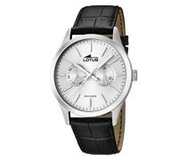 Herren-Armbanduhr XL Analog Quarz Leder 15956/1