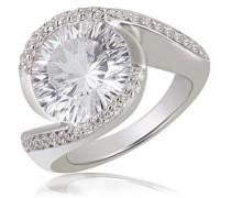 Damen-Ring Millenium 925 Sterlingsilber 42 Zirkonia