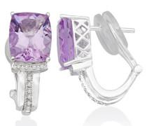 Miore Damen-Ohrringe 925 Sterling Silber Amethyst und Zirkonia MHS005E