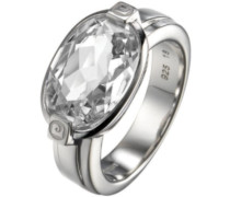 Pierre Cardin Damen-Ring 925 Sterling Silber rhodiniert Kristall Zirkonia Pierre précieuse weiß Gr.57 (18.1) PCRG90306A180