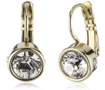 Dyrberg/Kern Damen-Ohrstecker Icons Madu Sg Messing teilvergoldet Kristall transparent Prinzess - 334721