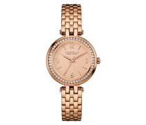 Caravelle New York Damen-Armbanduhr MINI T-BAR Analog Quarz Edelstahl beschichtet 44L175