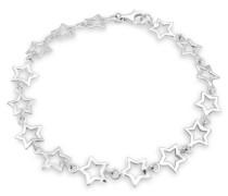Damen Schmuck Armband Gliederarmband Stern Astro Trend Blogger Trend Himmel Silber 925 Länge 19 cm