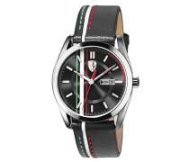 Ferrari Herren-Armbanduhr D50 Analog Quarz Leder 0830236