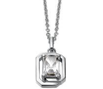 Pierre Cardin Damen Halskette 925 Sterling Silber rhodiniert Glas Zirkonia Néoclassicisme 42 cm weiß S.PCNL90469D420
