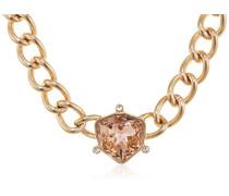 DYRBERG/KERN Damen-Halskette Messing Kristall rosa 45 cm - 336691