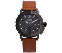 Herren-Armbanduhr Analog Quarz Leder 8500103