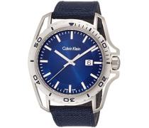Calvin Klein Herren-Armbanduhr Analog Quarz Textil K5Y31UVN