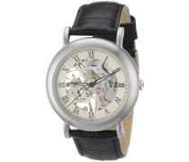 Herren-Armbanduhr XL AnalogHandaufzug Leder 11020021