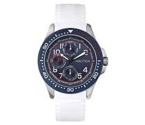 Nautica Herren-Armbanduhr XL Analog Quarz Silikon A13683G