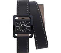 Michel Herbelin 17137/N24LN Damen-Armbanduhr, Leder, Farbe: Schwarz