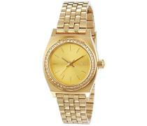 Nixon Damen-Armbanduhr XS Small Time Teller Analog Quarz Edelstahl A3991520-00