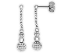 Damen-Ohrhänger 925 Sterling Silber Zirkonia MPS039E