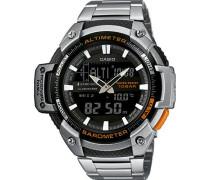 Herren Uhr Analog/Digital Quarz mit Edelstahlarmband SGW-450HD-1BER