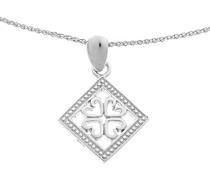 Damen Halskette 925 Sterling Silber rhodiniert