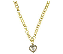 Damen-Halskette Messing Wiesn Vintage Herz gold 2598