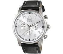 Cerruti 1881 Herren-Armbanduhr TERRA Analog Quarz Leder CRA081A212G
