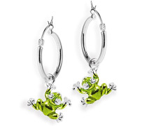 Damen- Ohring Einhänger Froggy für Creolen 925 Silber Brandlack LD MR 41 GR