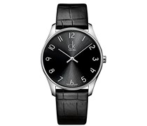 Calvin Klein Herren-Armbanduhr XL ck classic Analog Quarz Leder K4D211CX