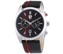 Ferrari Herren-Armbanduhr XL D50 Chrono Analog Quarz Leder 830177