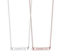 Damen-Kette mit Anhänger Wordings Friends 925 Silber 45 cm - 0104571117_45