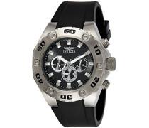 Herren-Armbanduhr Chronograph Kunststoff Schwarz 21563