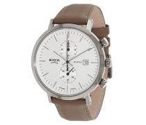 Boccia Herren-Armbanduhr Chronograph Quarz Leder 3752-01